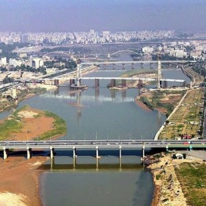 Ahwaz and the bridges on Karoon River